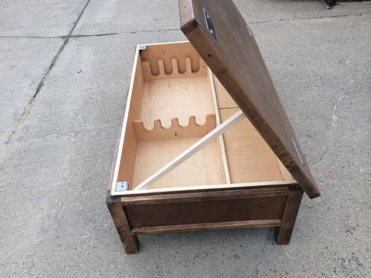Hidden Gun Storage Coffee Table   The Rustic Acre