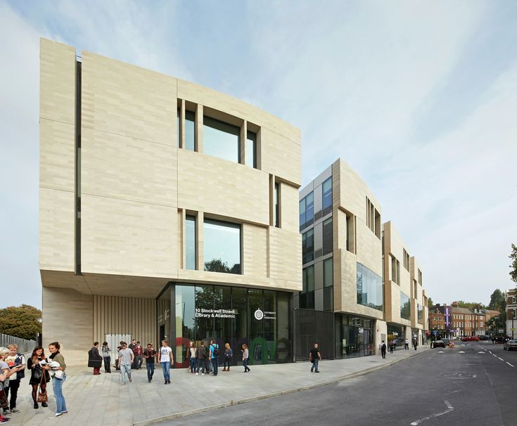 Image 1 of 6. Nominated: University of Greenwich Stockwell Street Building, SE10 (London) / Heneghan Peng. Image © Hufton + Crow