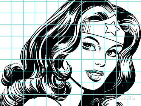 Since so many Hollywood movies have superhero content, I  figured we could use them to learn a new drawing technique, grid drawing...     ...