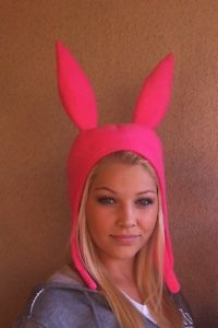 BOB'S BURGERS LOUISE BELCHER HAT (PINK BUNNY EARS HAT) - NEW