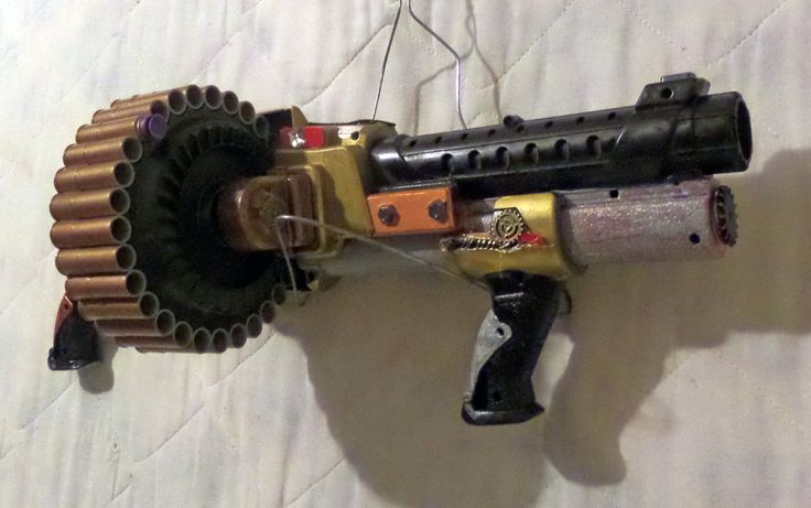 Steampunk Nerf Machine Gun 30 shots Cosplay Costume Weapon Military Toy Sci-fi - pinned by pin4etsy.com
