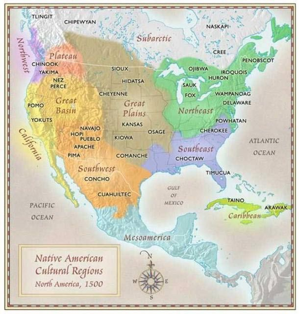 Perché la Mappa delle Tribù dei Nativi Americani non si trova sui libri di Storia? - Creatività, Innovazione e Passione per il Bello