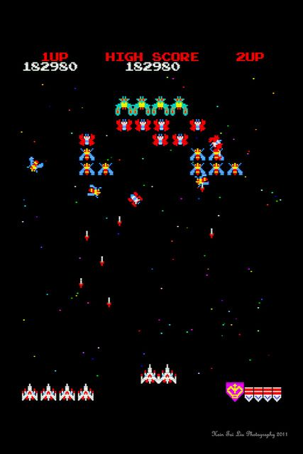 Blast From The Past. Who doesn't remember playing Galaga?  Had this one at Tiny's pizzas parlour