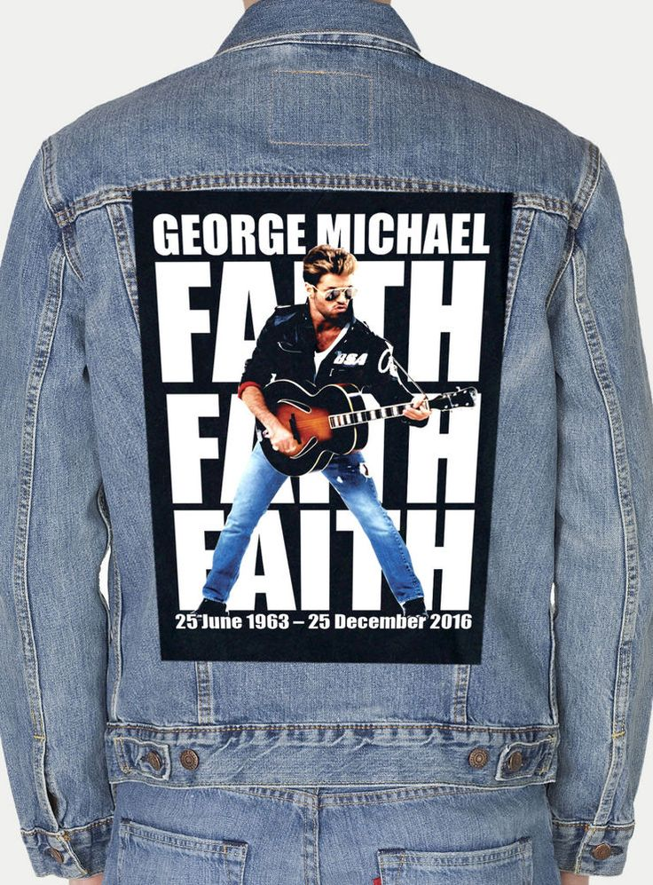 GEORGE MICHAEL  GIANT BACKPATCH #Unbranded