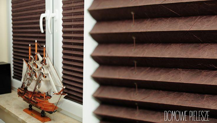 Wystrój wnętrz - rolety plisowane    Domowe Pielesze