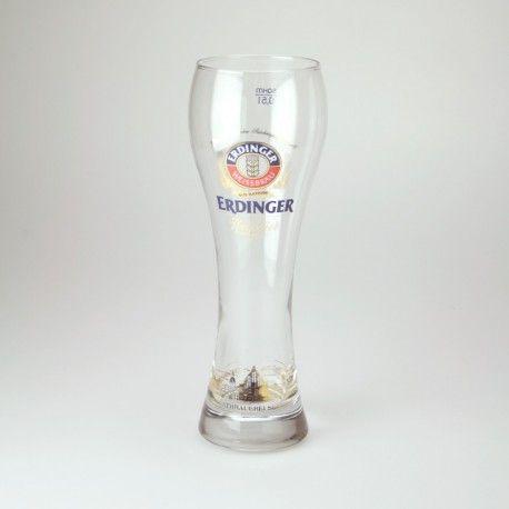 Verre à bière Erdinger, bière Allemande Verre à bière de collection