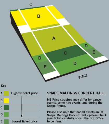 Seating Plan Snape Maltings Concert Hall Google Search