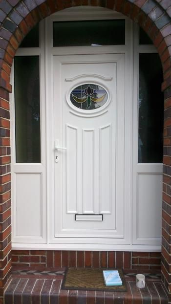 White Upvc Front Door Aspect Windows Ltd New House