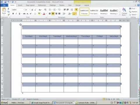 How to Create and Customize Calendar in MS Word