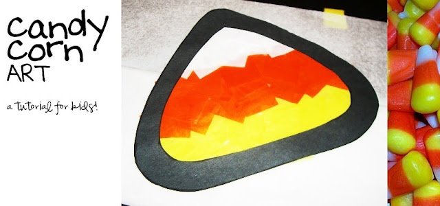 Candy corn art stained glass