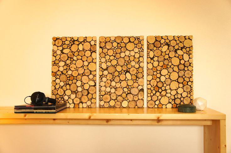 """Wandbild+""""Holz+vor+der+Hütte""""+von+wuuzworks+auf+DaWanda.com"""