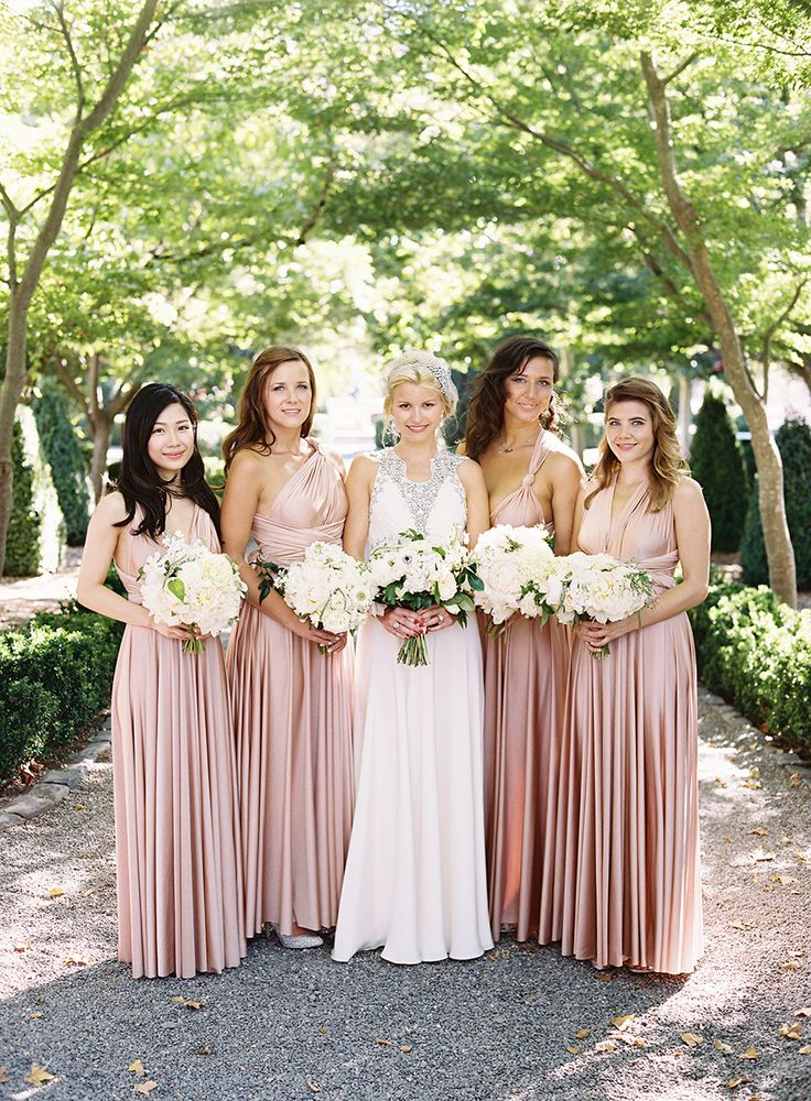 Gorgeous rosewater Classic ollection Ballgowns | multiway, convertible twobirds bridesmaid dresses