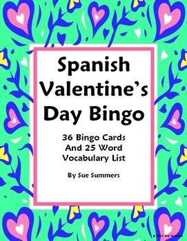 valentine's day spanish worksheets