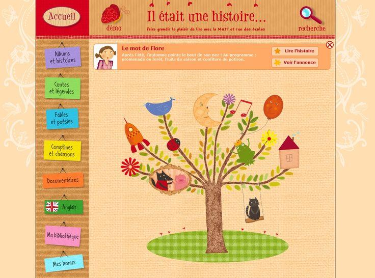 Il était une histoire : Ce site propose une centaine d'histoires illustrées (fables, contes, documentaires, comptines) qui peuvent être lues et/ou écoutées. Des jeux et activités permettent ensuite de vérifier la compréhension.