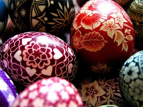 Traditional Bulgarian painted eggs