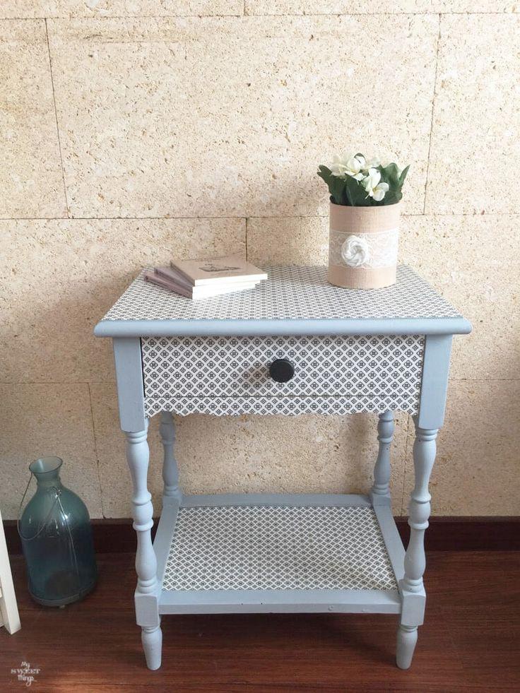 Como transformar mobiliario con decoupage y pintura de leche · Color Slate junto con Snow White milk paint