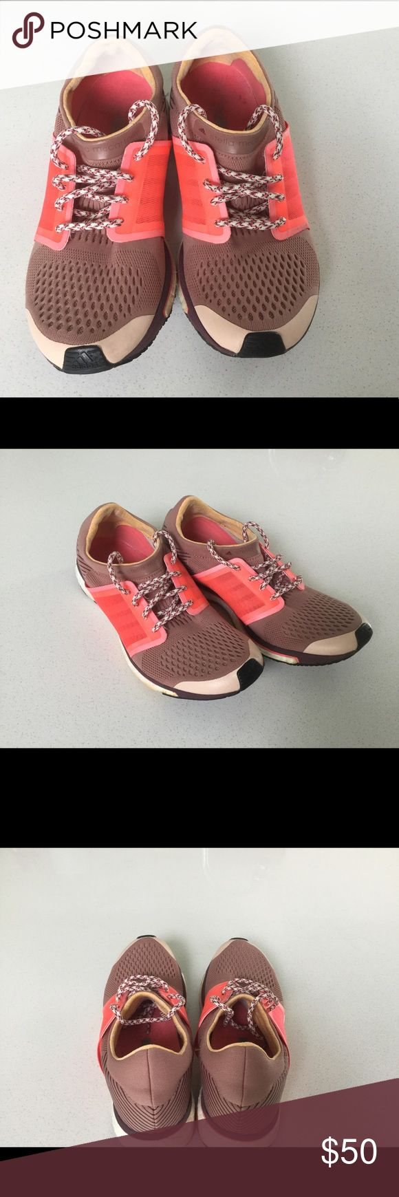 Adidas by Stella McCartney women's sneakers SZ 7.5 Adidas by Stella McCartney sneakers in clay pink (mauve), deep wine, and bright coral.  Women's size 7.5 with minimal wear. Adidas by Stella McCartney Shoes Athletic Shoes