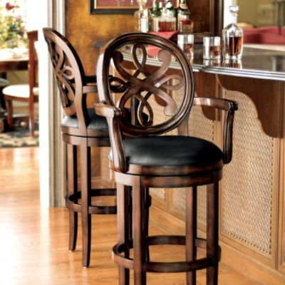 Kristina Bar Height Bar Stool seat arms traditional bar stools and counter stools FRONTGATE