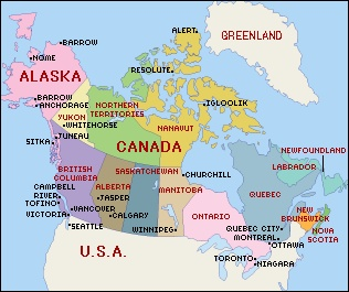 Alaska Map Canada EUER - Map of canada and alaska