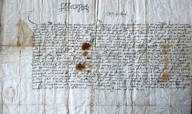 Personal letters written by King Henry VIII and his wife Jane Seymour