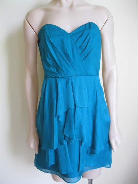 This gorgeous emerald green strapless now on sale!