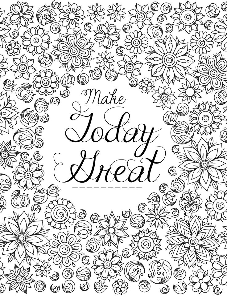 85 Best Affirmation Colouring Pages Images On Pinterest