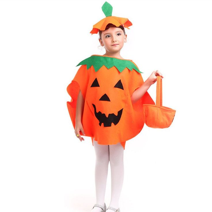 Children Halloween Pumpkin Costume for Girls or Boys