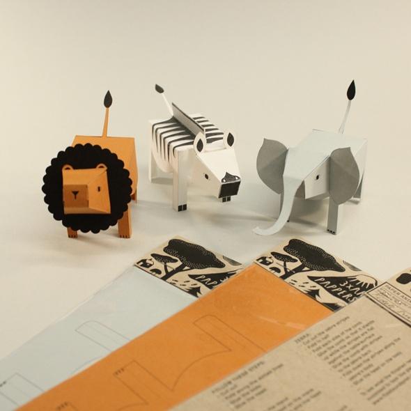 Paper Animals by Fideli Sundqvist #Kids #Paper_Animals #Fideli_Sundqvist
