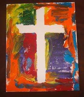 Canvas art painting - Used for Sunday School Lesson - Noah's Ark  https://lovenloot.blogspot.com