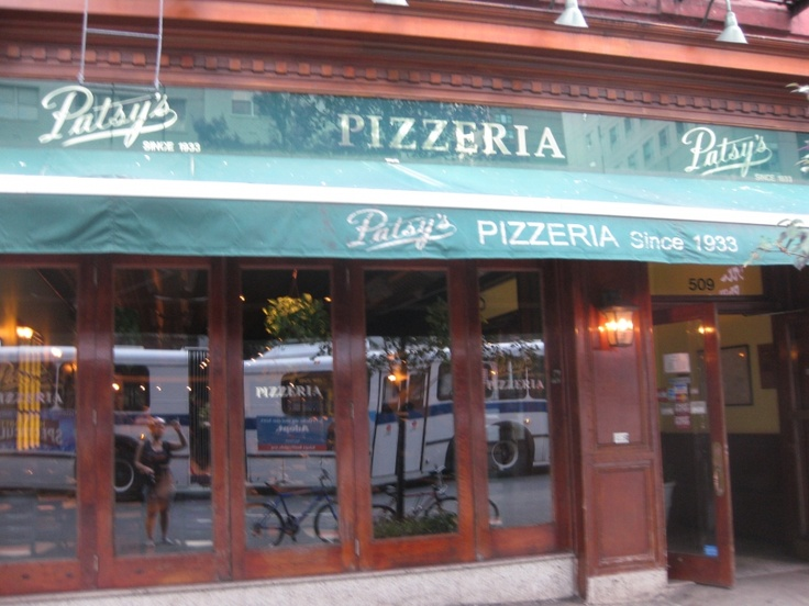 Patsy's Pizzeria.. Hands down theee best brick oven pizza in NY.Located on the Upper East Side. Been around since the 30's. Can't you just picture the gangsters sitting at wrought iron tables outside? I can!