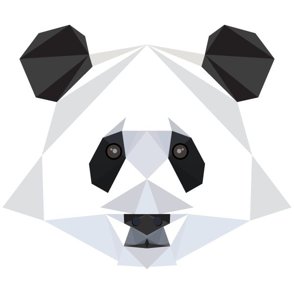 GRAPHIC ART: ANIMAL ALPHABET - Pp is for Panda