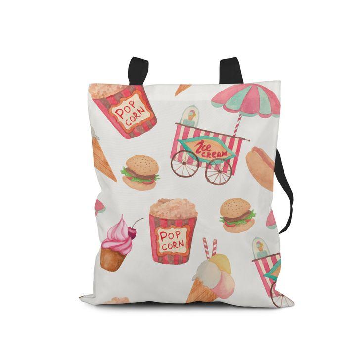 VIDA Tote Bag - ice cream lines by VIDA ByUKky