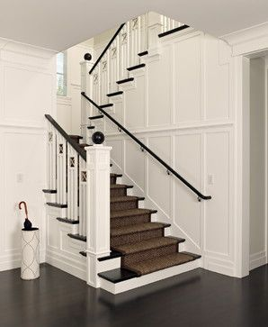 Urbane shingle style Residence - traditional - staircase - san francisco - Polsky Perlstein Architects