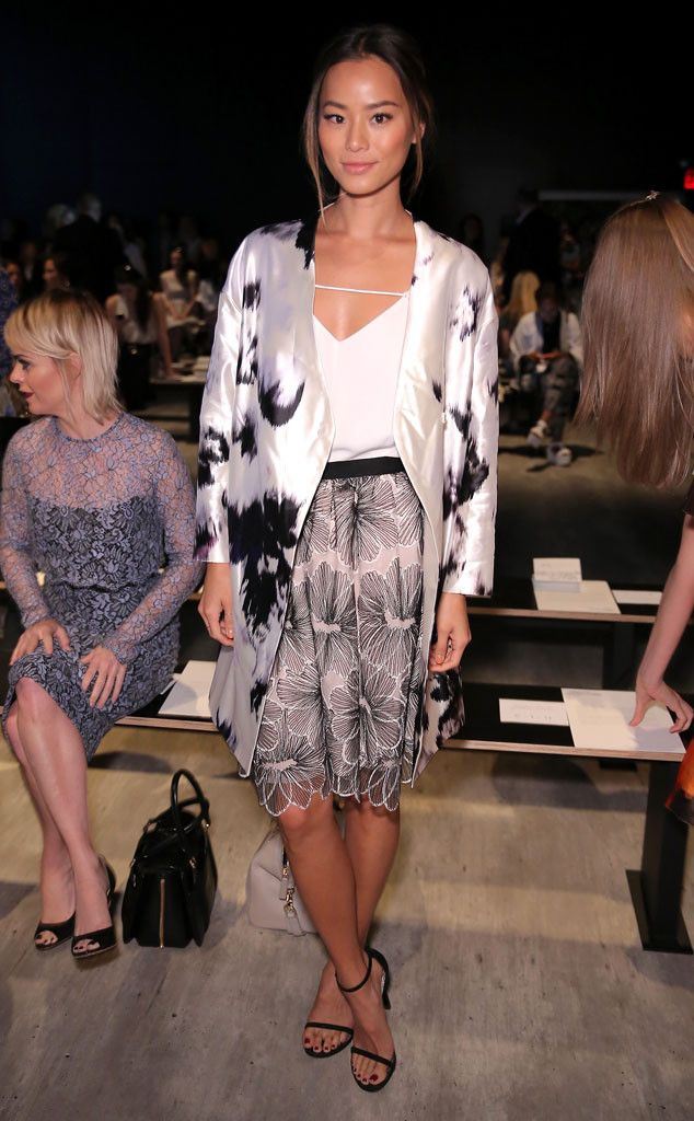 Jamie Chung: Stars at New York Fashion Week Spring 2015