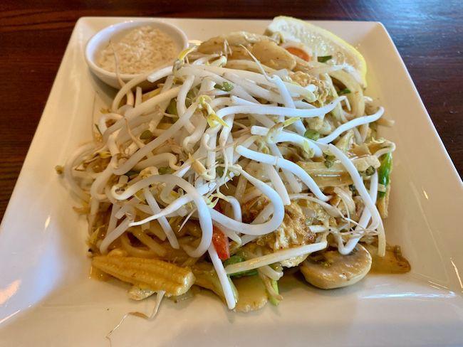 Vegetable Pad Thai Coastal Thai Vegetable Pad Thai Dishes Stuffed Peppers