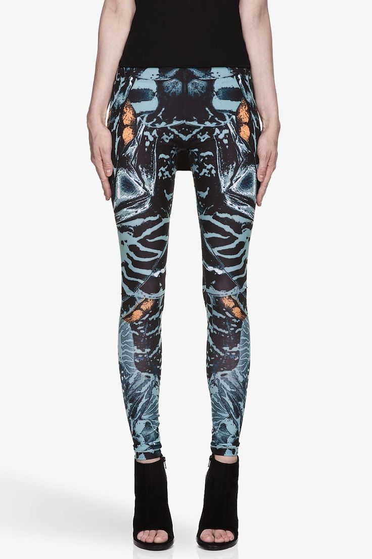 MCQ BY ALEXANDER MCQUEEN Blue Teal And Black Kaleidoscopic Shell Print