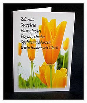 Poles Celebrate Name Day and Birth Day: Polish Name Day Card - Imieniny