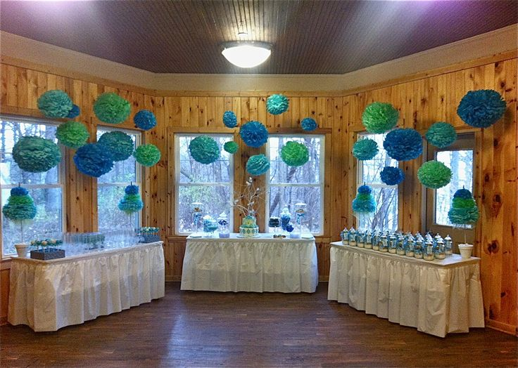 beautiful baby shower display tables