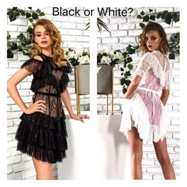 """Summer choice - black or white lace dress?"" by passionbyd on Polyvore"