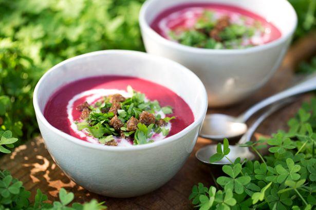 Rote Bete Suppe mit Meerrettichcreme