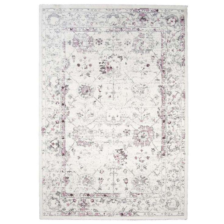 Vloerkleed Sevilla - wit/roze - 160x230 cm | Leen Bakker