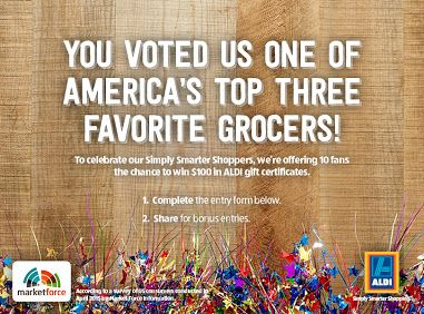 Enter for a chance to win $100 in ALDI gift certificates! http://woobox.com/3oe49o/g6x8i1 @AldiUSA