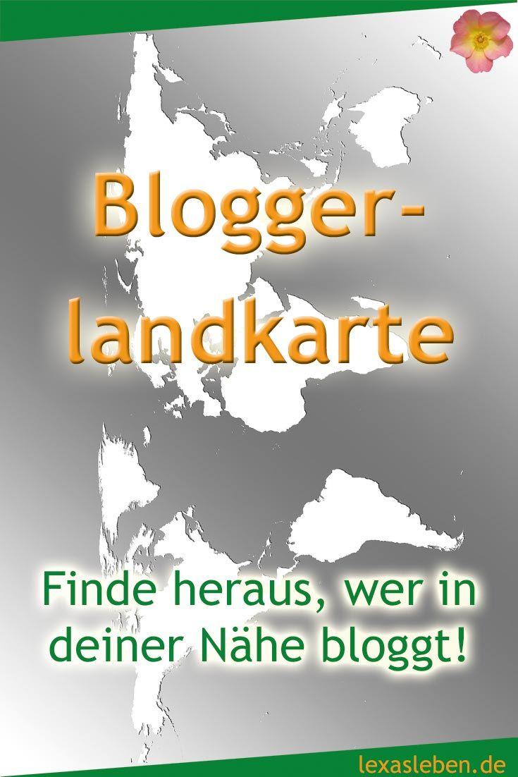 Auf der Bloggerlandkarte finden sich viele tolle und unterschiedliche deutschsprachige Blogs.  Trage auch du deinen Blog ein und sehe nach, wer in deiner Nähe über welche Themen bloggt.