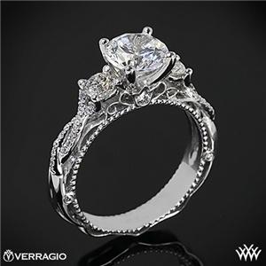 #Whiteflash #Verragio Verragio Beaded Twist 3 Stone Engagement Ring