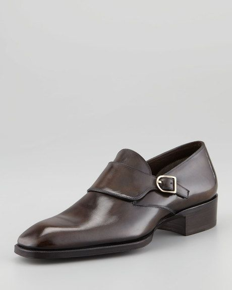 Tom Ford Gianni Monkstrap Loafer Black in Brown for Men $1620