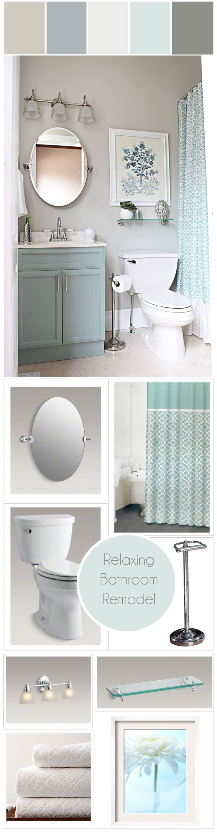Bathroom paint ideas blue - Favorite Relaxing Colors Icy Blue And White Bathroom Makeover Canada S Got Colour Winner