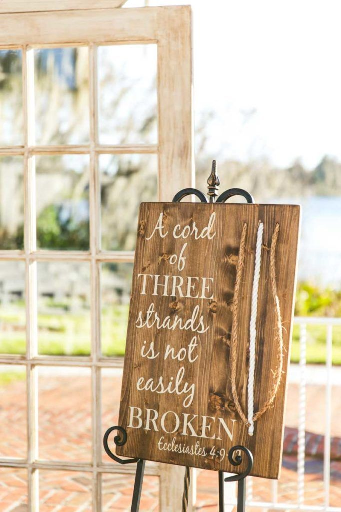 Gods Knot - Unity Braid Ceremony - Rustic Wedding - Photographer: Concept Photography - Cypress Grove Estate House - Orlando Florida Wedding Venue - Click pin for more - www.orangeblossombride.com