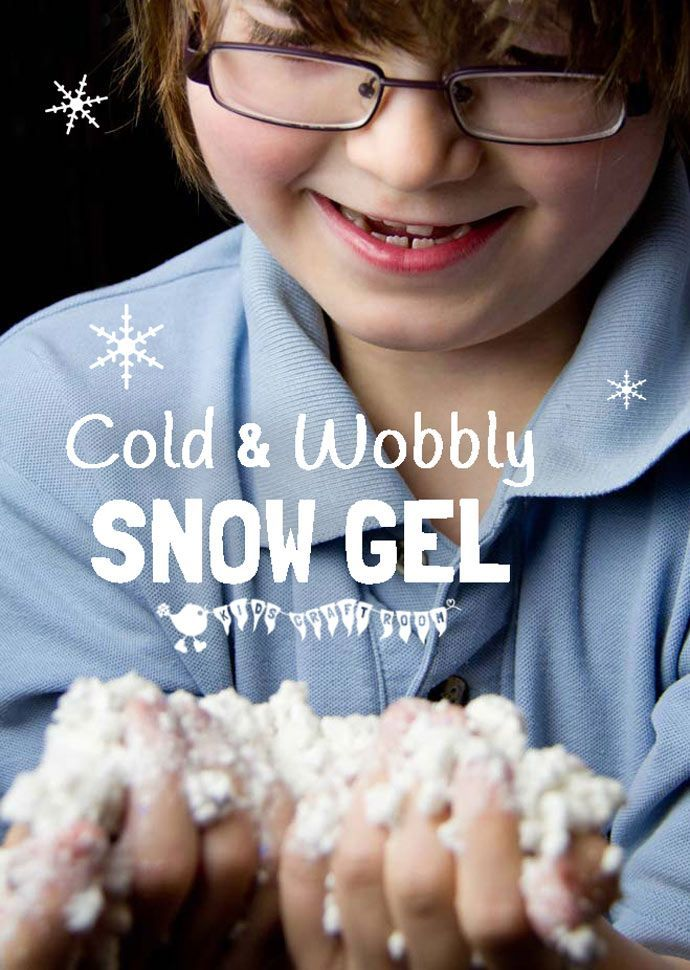 Make cold, wobbly SNOW GEL, a fantastic Winter sensory play activity for kids.
