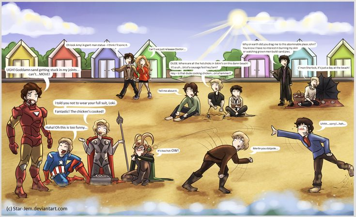 Superwholockingers - at the beach by Star-Jem.deviantart.com on @deviantART
