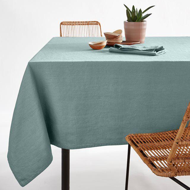 Image Victorine Pre-Washed Linen Tablecloth La Redoute Interieurs